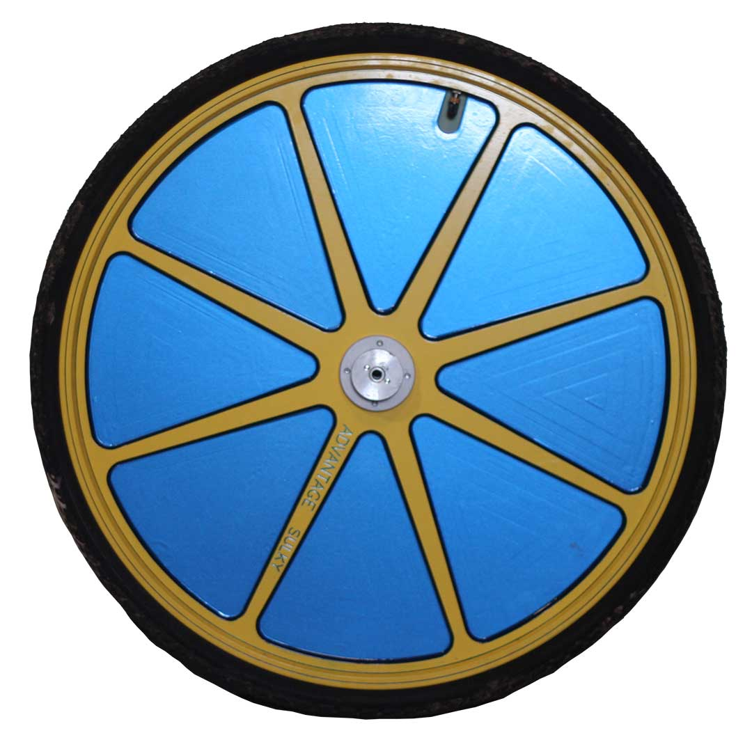 Yellow Aluminum Sulky Wheels