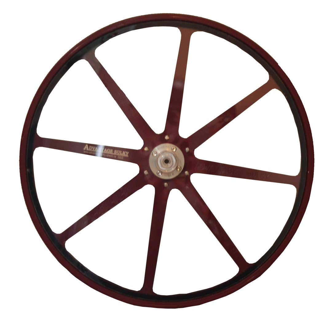 Maroon Aluminum Sulky Wheels